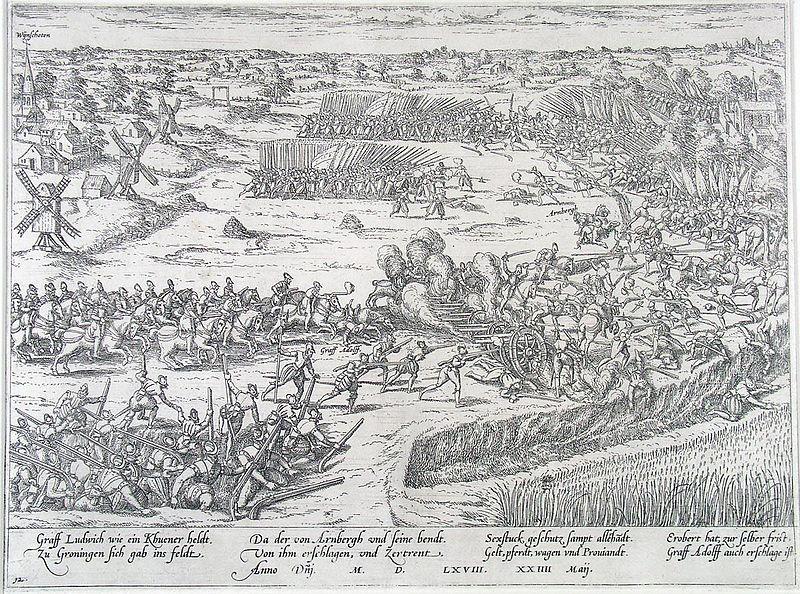 Slag_bij_Heiligerlee_-_Battle_of_Heiligerlee_-_1568_(Frans_Hogenberg)